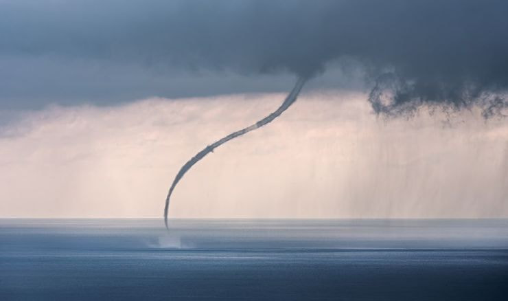 """Waterspout at Sea"""